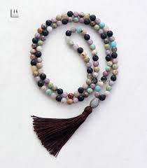 real stone necklace images 77 8mm lava stone natural stone mala with micro cubic zirconia jpg