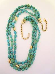 turquoise gold necklace images Long sleeping beauty turquoise 14kt gold necklace turquoise jpg