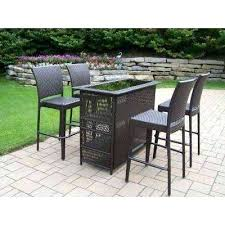 Patio Bar Height Tables Outside Patio Bar Sets Outdoor Furniture Bar Height Table And
