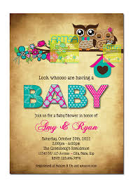 owls invitation owls and baby shower invitation pink