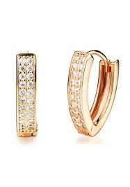 earrings malaysia buy youniq youniq cz rec 14k titanium earrings rosegold online