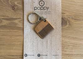 wooden keychain wooden keychain beard comb poppy