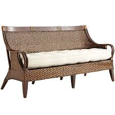 furniture temani brown wicker outdoor pier one loveseat for home