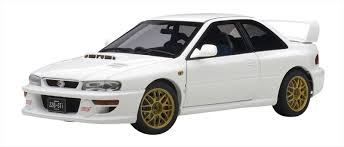 subaru cars white subaru impreza 22b white upgraded version limited 1500pcs 1 18