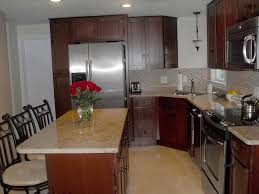 shaker cherry cabinets new england kitchen remodel