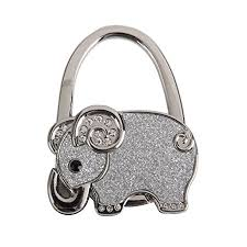purse hook for table folding bag handbag purse hook table hanger holder elephant pattern