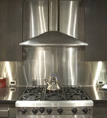 Gauge  Thick Stainless Steel Backsplashes From - Stainless steel backsplash