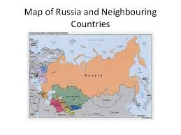 russia map border countries russia and neighbouring countries