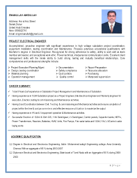 Power Plant Electrical Engineer Resume Sample by Substation Project Construction Electrical Engineer Resume