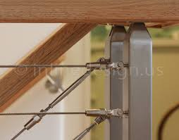 andy ct modern stainless steel cable and glass railing
