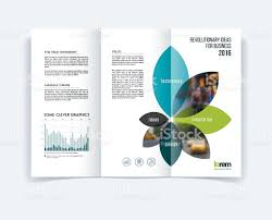 fold brochure template trifold brochure template layout cover design flyer in a4 stock