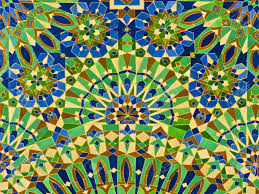 Moroccan Tile by Moroccan Tile On The Wall Of The Mosque Hassan Ii In Casablanca