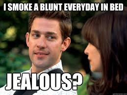 Emily Meme - i smoke a blunt everyday in bed jealous mr emily blunt quickmeme