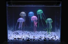 sunkni 6pcs multicolored artificial glowing jellyfish