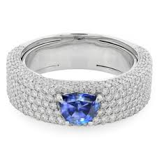 fields wedding rings benitoite gold ring in a field of diamonds florence kwiat