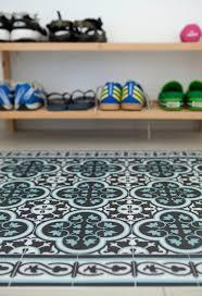 Brown Kitchen Rugs Tiles Pattern Decorative Pvc Vinyl Mat U2013 Color Dark Brown And