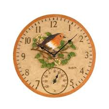 Garden Wall Clocks by Wild Birds Wall Clock Thermometer Available At This Is It Stores Uk