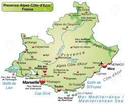 St Croix Map Map Of Provence Alpes Cote D Azur As An Overview Map In Pastel