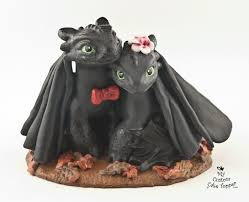 toothless cake topper fury toothless how to your wedding cake topper