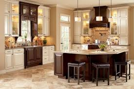 Stain Kitchen Cabinets Darker Stained Kitchen Cabinets Standard Eased Edge White Granite