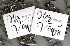 wedding vow cards marriage vows card set wedding vow card his vows vows