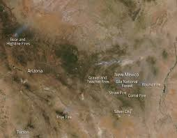 New Mexico Road Conditions Map by Fires In The Gila Wilderness New Mexico Nasa