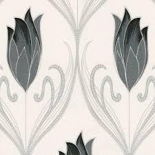 belgravia crystal flower pattern floral glitter vinyl wallpaper 240