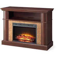 electric fireplace heater tv stand cherry finish media console