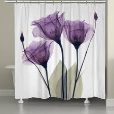 Plum Flower Curtains Floral Shower Curtain U2013 Laural Home