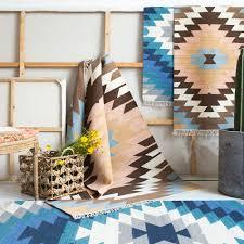 la maison du kilim achetez en gros bleu laine tapis en ligne à des grossistes bleu