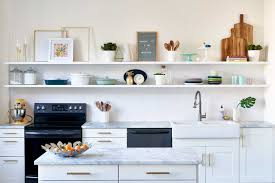 how to organize open kitchen cabinets open kitchen shelving advice secrets apartment therapy