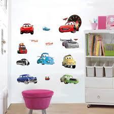 stickers voiture pour chambre garcon voiture de dessins animés enfant chambre décoration stickers muraux