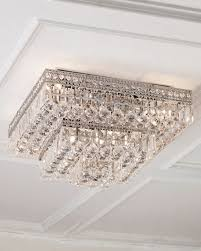 Crystal Ceiling Mount Light Fixture by Crystal Flush Mount Ceiling Fixtures