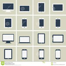 flat gadgets collection stock photo image 53448822