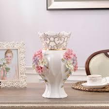 floor vases home decor ceramic red white modern flowers vase home decor large floor vases