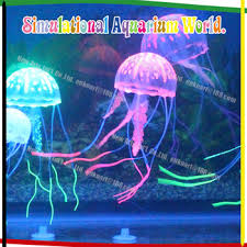 glowing effect jelly fish aquaria silicon aquarium ornaments
