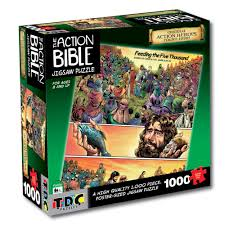 tdc games feeding the five thousand action bible jigsaw puzzle