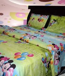 Buy Cheap Double Bed Sheets Online India Riyasat Mickey Mouse Double Bed Sheet With 2 Pillow Covers Buy
