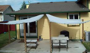 Build An Awning Over Patio by Running With Scissors Patio Shade Sails