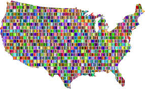 Unitrd States Map by Clipart Chromatic Mosaic United States Map