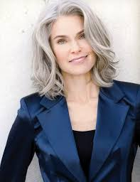 trendy gray hair styles famous gray hair models hair models gray hair pinterest