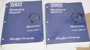 2002 ford mustang oem factory service shop repair manual 2 vol set