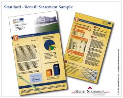 examples of benefit statements and total compensation statements