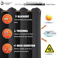 Insulated Thermal Curtains Amazlinen Sleep Well Blackout Curtains Toxic Free Energy Smart