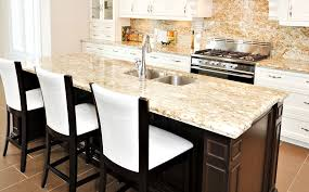 kitchen island bar stools granite countertop small side table flower arrangements in glass