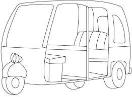 auto rickshaw coloring download free auto rickshaw coloring