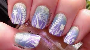 butterfly garden gradient nail art with stamping arcadianailart