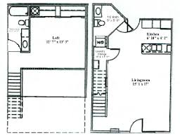 one bedroom one bath house plans floor plan one bedroom loft woodsview apartments