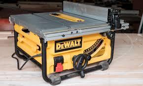 Job Site Table Saw Dewalt Dwe7480 Compact Jobsite Table Saw Pro Remodeler