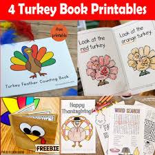 4 turkey book printables for thanksgiving printables 4